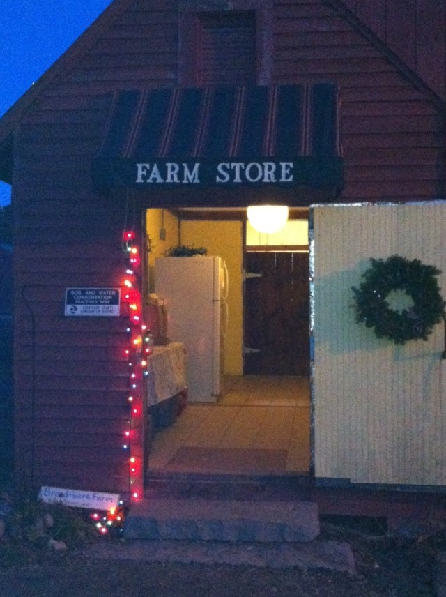 Farm Store at Dusk