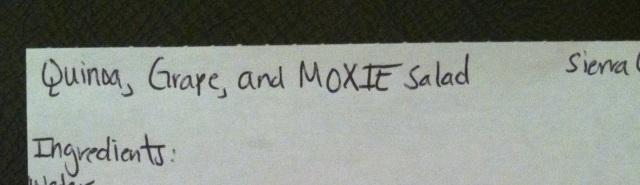 Quinoa and Moxie