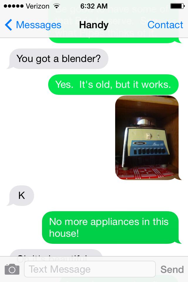 No more appliances!